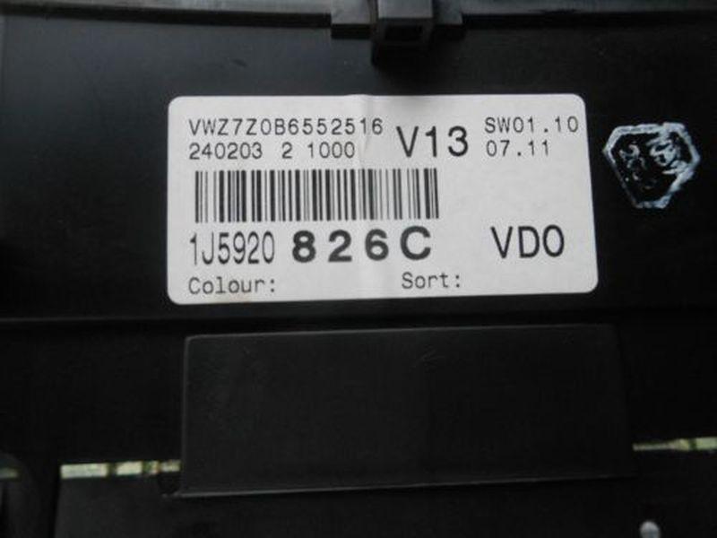 Tachometer bis 260 km/hVW GOLF IV (1J1) 1.9 TDI